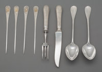 A Group of Eight French Silver Serving Pieces from the Royal Egyptian Collection of Khedive Isma'il Pasha, Paris, mid