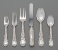 Silver & Vertu:Flatware, A Fifty-Piece Tiffany & Co. Chrysanthemum Pattern Silver Flatware Service for Twelve, New York, designed 1880. M...