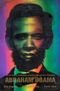 Prints & Multiples:Print, Ron English (b. 1959). Abraham Obama (Gold Lettering), 2009. Lenticular rainbow flip print. 36 x 24 inches (91.4 x 61 cm...