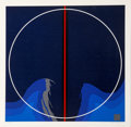 Prints & Multiples:Print, Thomas W. Benton (1930-2007). Earth Series I Blue, 1981. Silkscreen in colors on wove paper. 35 x 35 inches (88.9 x 88.9...