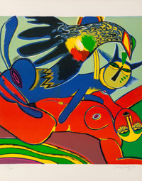 Corneille (1922-2010) Elle se Donee a L'ete (She Gives Herself to Summer), 1980 Lithograph in colors