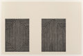 Prints & Multiples:Print, Frank Stella (b. 1936). Club Onyx--Seven Steps, from Black Series I, 1967. Lithograph on Barcham green paper. 15 x 2...