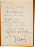 Baseball Collectibles:Others, Circa 1934 Baseball Greats Multi-Signed Autograph Book with Approximately 147 Including Gehrig, Ruffing, DiMaggio. ...