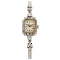 Estate Jewelry:Watches, Lady's Diamond, White Gold Watch. ...