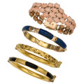 Estate Jewelry:Bracelets, Multi-Stone, Gold Bracelets. ... (Total: 4 Items)