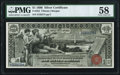 Large Size:Silver Certificates, Fr. 224 $1 1896 Silver Certificate PMG Choice About Unc 58.. ...