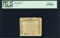 Colonial Notes:Massachusetts, Massachusetts October 18, 1776 6d PCGS Choice New 63PPQ.. ...