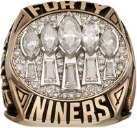 1994 San Francisco 49ers Super Bowl XXIX Championship Ring Presented to Eric Davis from The Eric Davis Collection