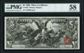 Large Size:Silver Certificates, Fr. 268 $5 1896 Silver Certificate PMG Choice About Unc 58.. ...