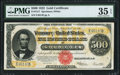 Large Size:Gold Certificates, Fr. 1217 $500 1922 Gold Certificate PMG Choice Very Fine 35 EPQ.. ...