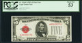 Fr. 1526* $5 1928A Legal Tender Note. PCGS About New 53