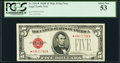 Fr. 1531* $5 1928F Wide II Legal Tender Note. PCGS About New 53