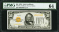 Small Size:Gold Certificates, Fr. 2404 $50 1928 Gold Certificate. PMG Choice Uncirculated 64.. ...