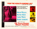 Memorabilia:Movie-Related, I'll Never Forget What's 'Isname Movie Half-Sheet (Scimitar/Regional Films, 1967-68). ...