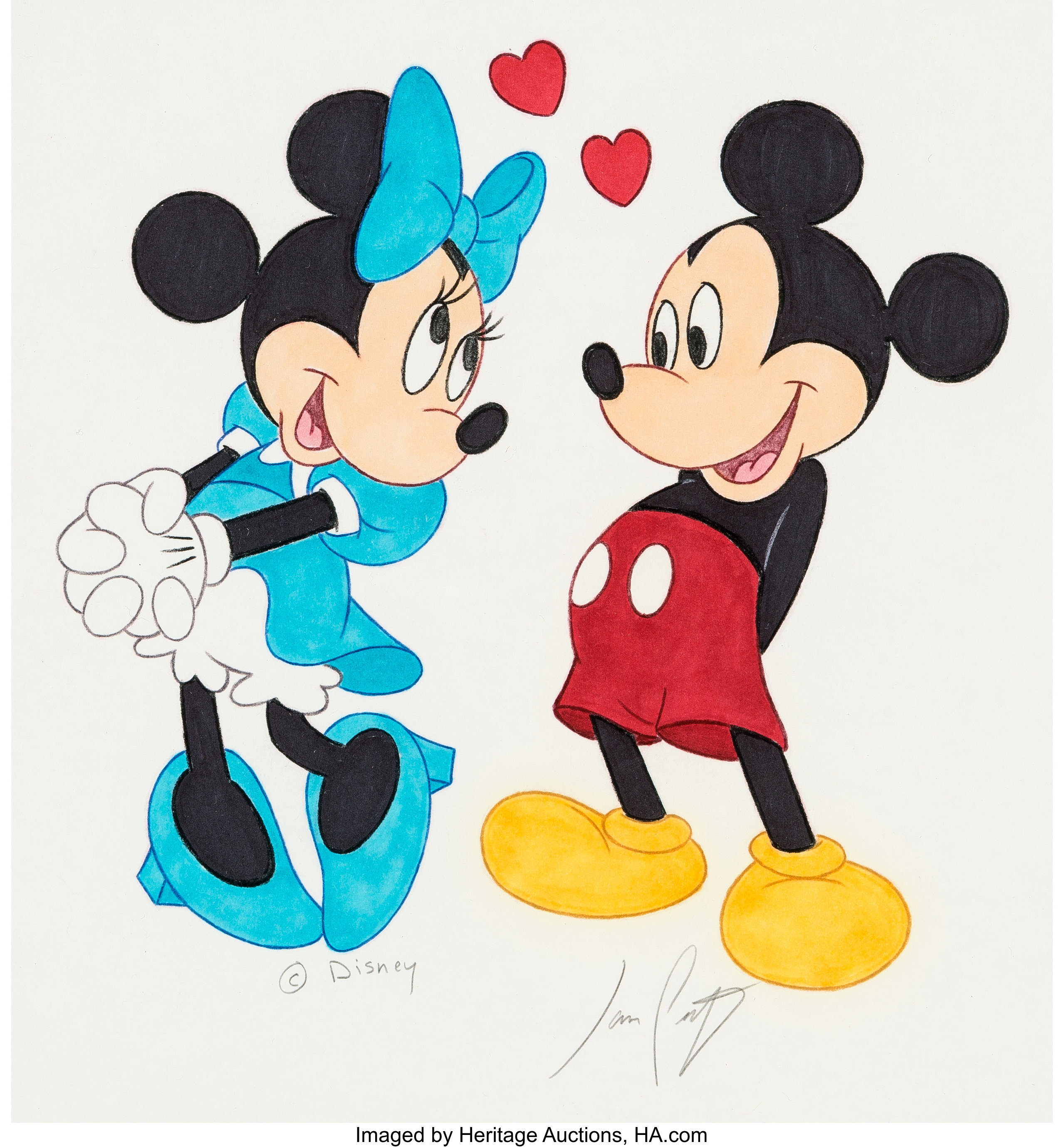 Mickey Mouse And Minnie Mouse Illustration Original Art By Jason