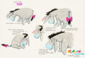 "Animation Art:Production Drawing, Winnie the Pooh ""Eeyore Model Sheet"" Illustration Original Art byRon Campbell (Walt Disney, c. 2000s). ..."