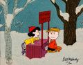 """Animation Art:Limited Edition Cel, Peanuts """"Friendly Advice"""" Lucy and Charlie Brown Limited EditionCel #170/500 (Walt Disney, c. 1980s-90s).... (Total: 2 Items)"""
