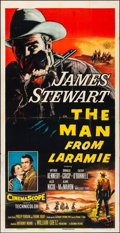 "Movie Posters:Western, The Man from Laramie (Columbia, 1955). Folded, Fine/Very Fine. Three Sheet (41"" X 80""). Western.. ..."