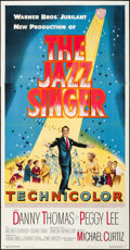 """Movie Posters:Musical, The Jazz Singer (Warner Bros., 1953). Folded, Very Fine+. Three Sheet (41"""" X 79.25""""). Musical.. ..."""