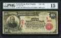 National Bank Notes:West Virginia, Parkersburg, WV - $10 1902 Red Seal Fr. 613 The First NB Ch. #(S)180 PMG Choice Fine 15.. ...