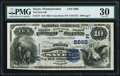 National Bank Notes:Pennsylvania, Sayre, PA - $10 1882 Value Back Fr. 577 The First NB Ch. # (E)5666 PMG Very Fine 30.. ...