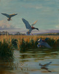 Fine Art - Painting, American, Richard E. Bishop (American, 1897-1975). On the Delta, 1933.Oil on canvas. 30-1/4 x 24-1/4 inches (76.8 x 61.6 cm). Sig...