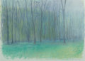Fine Art - Work on Paper, Wolf Kahn (American, b. 1927). Gray, Violet and EmeraldGreen, 1984. Pastel on paper. 22-1/2 x 29-3/4 inches (57.2 x75....