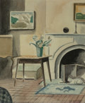 Works on Paper, George Copeland Ault (American, 1891-1948). My Studio, 1928. Watercolor and pencil on paper. 13-1/2 x 11 inches (34.3 x ...