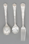 Silver Flatware, American, Ten Pieces of Tiffany Wave Edge Silver Flatware, New York,designed 1884. Marks: TIFFANY, STERLING, PAT. 1884.... (Total:10 )