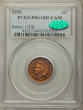 Proof Indian Cents, 1876 1C PR64 Cameo PCGS. CAC....