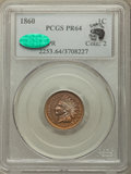 Proof Indian Cents, 1860 1C PR64 PCGS. CAC....