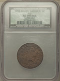 Large Cents, 1793 1C Chain, AMERICA, S-3, B-4, Low R.3 -- Corroded -- NCS. AG Details....