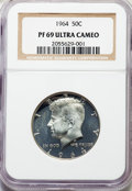 Proof Kennedy Half Dollars, 1964 50C PR69 Ultra Cameo NGC....
