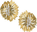 Estate Jewelry:Earrings, Diamond, Gold Earrings, Dankner . ...