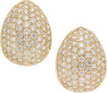 Estate Jewelry:Earrings, Diamond, Gold Earrings . ...