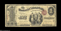 Woonsocket, RI - $1 Original Fr. 380 The Woonsocket NB Ch. # 1058 An extremely rare note making its first appearance on...