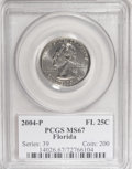 Statehood Quarters: , 2004-P 25C Florida MS67 PCGS. PCGS Population (341/52). NumismediaWsl. Price for NGC/PCGS coin in MS67...