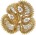 Estate Jewelry:Brooches - Pins, Diamond, Platinum, Gold Brooch, Cartier, French. ...