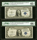 Small Size:Silver Certificates, Fr. 1609/Fr. 1610 $1 1935A R and S Silver Certificate Pair. PMG Gem Uncirculated 65 EPQ and 66 EPQ.. ... (Total: 2 notes)