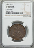 Seated Half Dollars: , 1840-O 50C -- Cleaned -- NGC Details. XF. NGC Census: (16/78). PCGS Population: (44/117). CDN: $250 Whsle. Bid for problem-...
