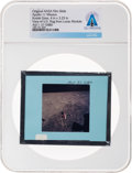 Explorers:Space Exploration, Apollo 11 Original NASA Glass Film Slide, a View of U.S. Flag from Lunar Module, Directly From The Armstrong Family Collec...