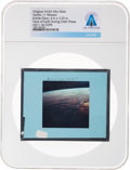 Explorers:Space Exploration, Apollo 11 Original NASA Glass Film Slide, a View of Earth During Orbit Phase, Directly From The Armstrong Family Collectio...