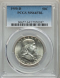 Franklin Half Dollars, (4)1950-D 50C MS64 Full Bell Lines PCGS. PCGS Population: (3104/988). NGC Census: (882/240). CDN: $65 Whsle. Bid for proble... (Total: 4 coins)