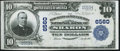National Bank Notes:Pennsylvania, Sharon, PA - $10 1902 Plain Back Fr. 624 The Merchants & Manufacturers NB Ch. # 6560 Very Fine-Extremely Fine.. ...