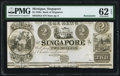 Obsoletes By State:Michigan, Singapore, MI- Bank of Singapore $2 18__ G4 Lee Sin-1-2 Remainder PMG Uncirculated 62 EPQ.. ...