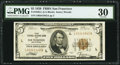 Fr. 1850-L $5 1929 Federal Reserve Bank Note. PMG Very Fine 30