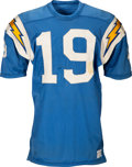 Football Collectibles:Uniforms, 1968-69 Lance Alworth Game Worn San Diego Chargers Jersey, MEARSA10....