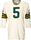 Football Collectibles:Uniforms, Mid-1960's Paul Hornung Game Worn Green Bay Packers Jersey, MEARS A10....