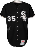 Baseball Collectibles:Uniforms, 1997 Frank Thomas Game Worn & Signed Chicago White Sox Jersey with Team Letter. ...