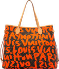 Luxury Accessories:Bags, Louis Vuitton x Stephen Sprouse Limited Edition Orange Graffiti Neverfull GM Bag. The Collection of Candy Spelling. Co...